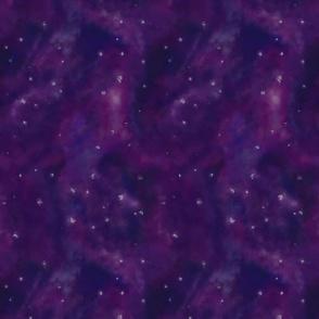 Space Nebula Purple Medium Scale