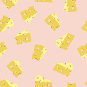 HOLEY CHEESE ON PINK