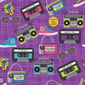 80s Purple Stripes