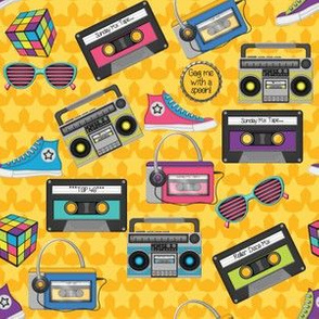 80s Yellow Stars