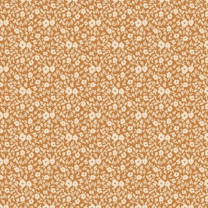 HYGGE spoonflower petite ivory floral blue whimsical baby girl neutral nursery farmhouse style cottage core Pat 3 TerriConradDesigns