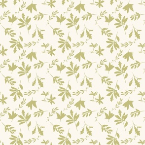 HYGGE spoonflower green leaves painterly organic neutral nursery earthy baby boy baby girl whimsical farmhouse style cottage core Pat 1 TerriConradDesigns