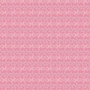 Dancing Starfish and Seaweed Pink