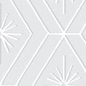 modern retro geo gray grey white large scale