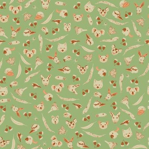 Southern Animals in Green (tiny)