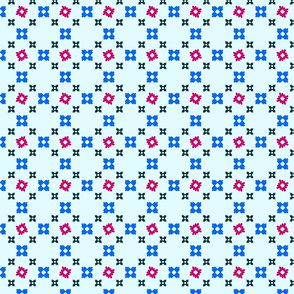 Sweet floral crisscross - pale blue