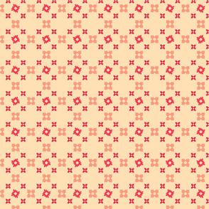 Sweet floral crisscross - pink