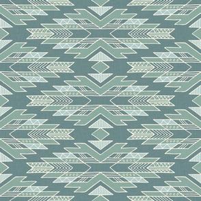 Aztec blanket / Blue / Medium scale