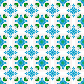 Blue and green should be seen