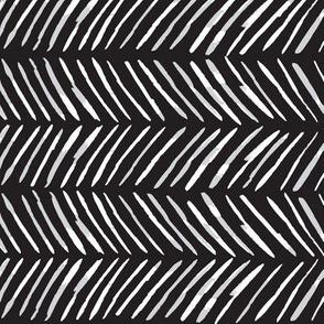 Chevron Lines - White on Black