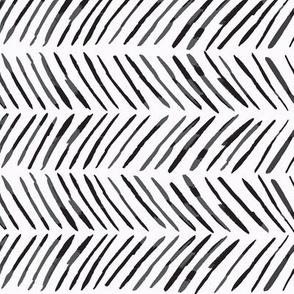 Chevron Lines - Black on White