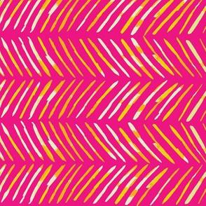 Chevron Lines Hot Pink & Yellow