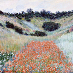 set of 3 Claude monet paintings // poppies