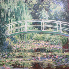 Set of 3 Claude Monet paintings // waterlilies