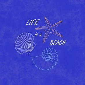 Life is a beach 6 inch embroidery circle
