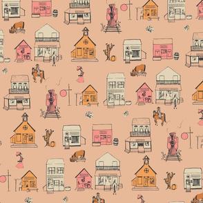 The Town Bustle - Peach