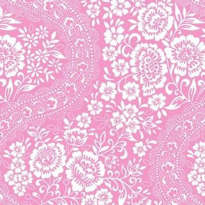 Pink rose stripe small scale