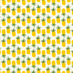 Yellow pineapple on a white background