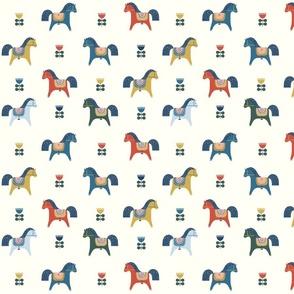 Scandinavian Folk. Swedish Dala Horses