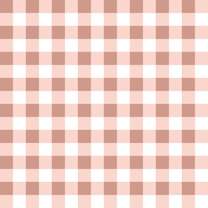Small Gingham in Dusty Pink Half Inch Check Plaid Cottagecore