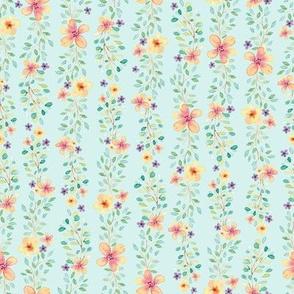Watercolor Spring Wildflowers // Delicate and feminine Spring Design // Blue Sky