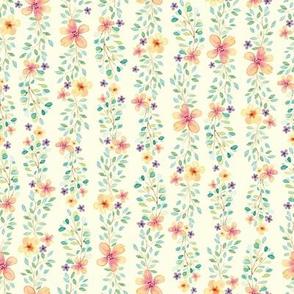 Watercolor Spring Wildflowers // Delicate and feminine Spring Design // Vanilla
