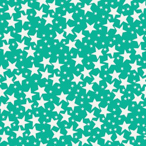 Space Stars-Teal Green