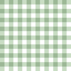 Small Sage Gingham Spring Cottagecore Green Plaid Check