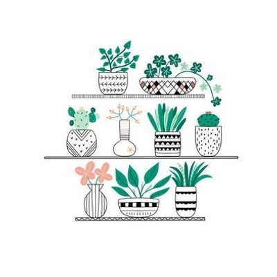 Embroidery Plant Shelfie