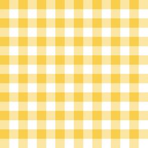 Yellow & White Gingham Plaid