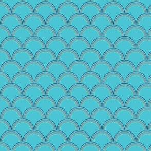 Deep Blue Sea-Blue Scallops