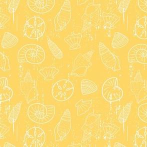 Deep Blue Sea- Yellow Sunshine Sea Shells