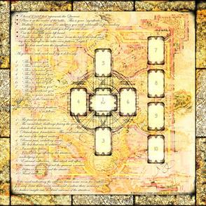 Book of Kells Tarot Layout Cloth