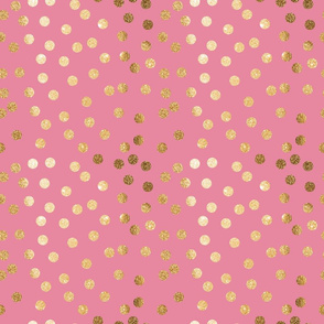 Faux Gold Glitter on Candy Pink