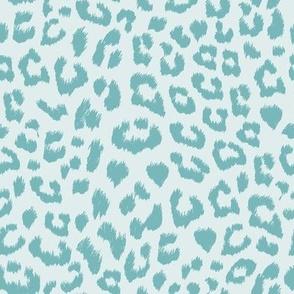 Small Leopard Aqua Blue