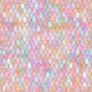 mermaid rainbow glitter MINI