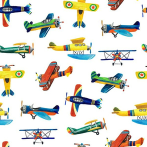 painted airplanes pattern