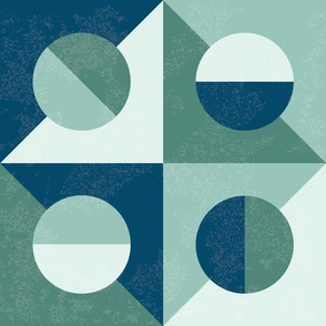 Italian Tiles Blue Green