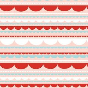 Scallop Stripe Red