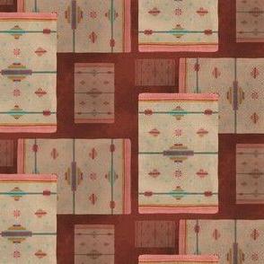Saddle Blanket Stripe {Rust}