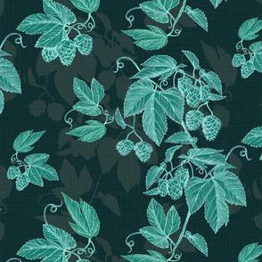 Hops  Shadows-aqua dk green
