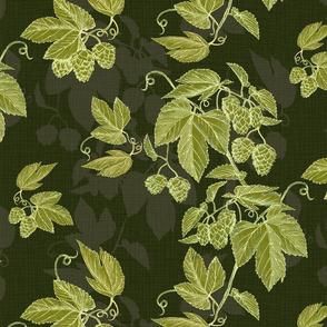 hops shadows-green gold-olive