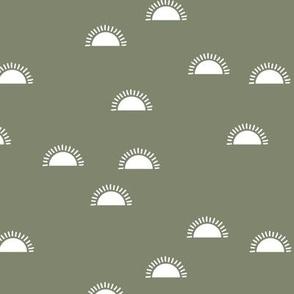 Happy morning sunshine day sweet minimalist Scandinavian style boho design sea green camo boys white