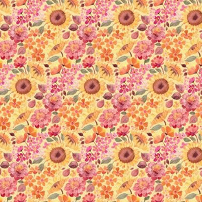 Happy Boho Sixties Floral - micro print