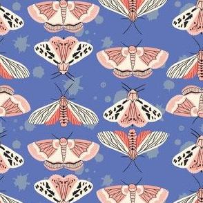 Pastell Moths Blue by DEINKI