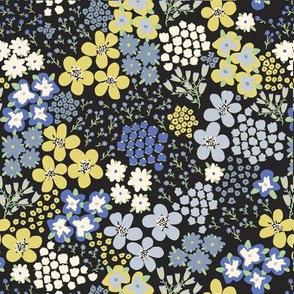 Prairie in Bloom Blue by DEINKI