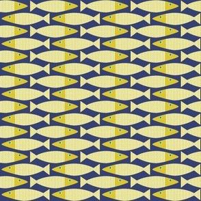 Wavy Bass mini -navy and citron