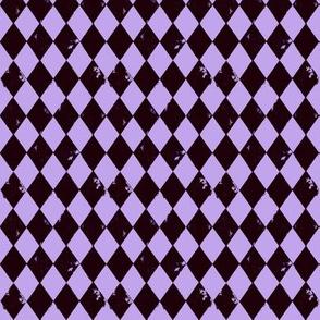 Harlequin Diamond Purple and Black