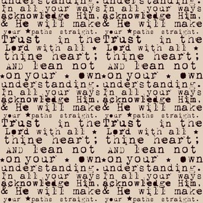 Trust In The Lord Scripture Verse Text on