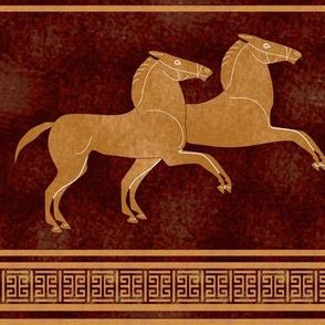 Custom Greek Horse Stripe on Maroon